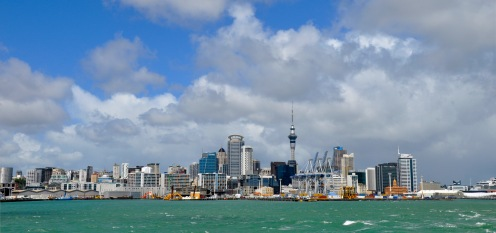 Auckland central - Sky tower in th middle