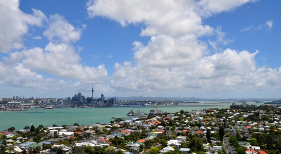 Auckland Central from Devenport