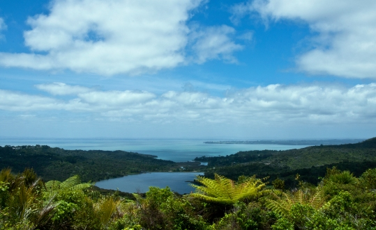 Auckland view to Tasman sea