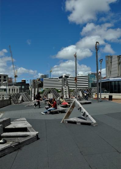 Wellington harbour 'Bridge' over the main road