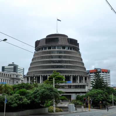 every country has own monster - Beehive aka Executive Wing of the New Zealand Parliament Building