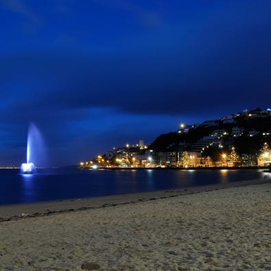 The Carter Fountain on Oriental Bay. Suprovka, ne?