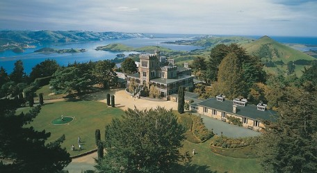 Larnach Castle - unfortunately we couldn't take a nice shot in such a heavy rain