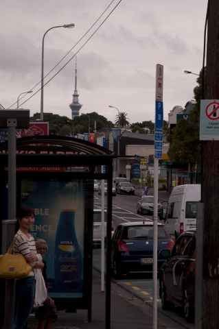 Sky tower from Dominion Road about 6km far away from CBD