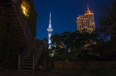 Sky Tower - view from Albert Park