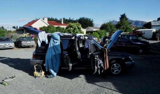 Laundry time! :) This is what happen, when you catch a rain in Fiordland and your car stop working