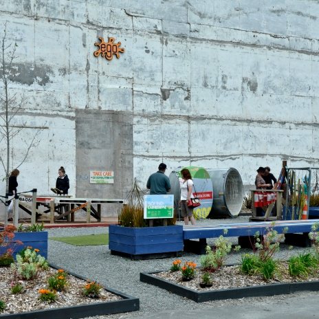 playground made from reminders of old ChCh