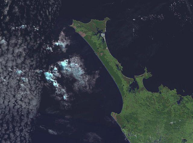 NASA Satellite shot of Ninety Mile Beach