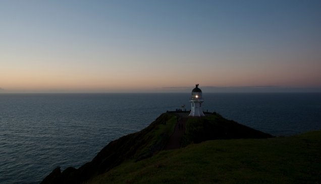 Cape Reinga Lighthouse - first light flesh