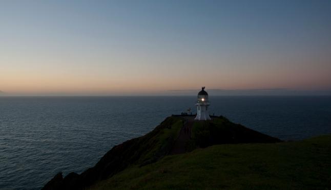 Cape Reinga Lighthouse - first light flesh