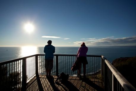 view over Tasman Sea
