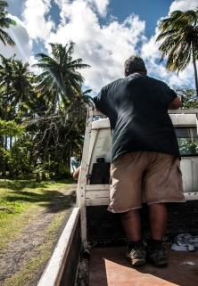 hitchhiking in Rarotonga was fun:)