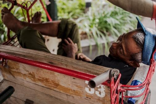 odpoledni odpočinek rikši